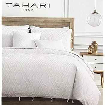 Amazon Com Tahari Textured Duvet Cover And Sham Set