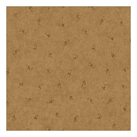 York Wallcoverings CB5635 Hearts Crafts III Leaf and Scroll Spot Wallpaper, Tan (Wallpaper Country)
