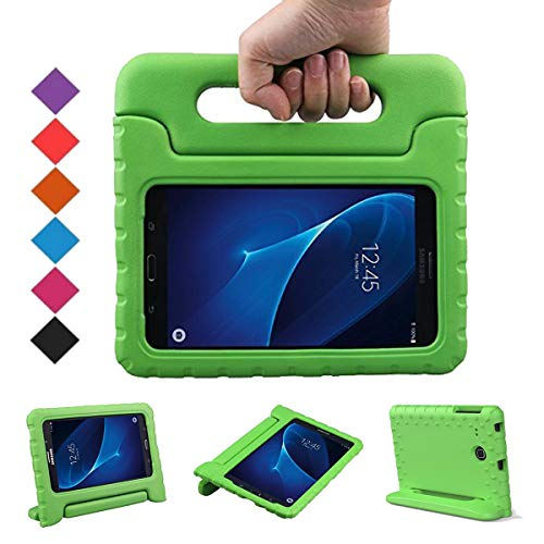 BMOUO Kids Case for Samsung Galaxy Tab E Lite 7.0 inch - ShockProof Case Light Weight Kids Case Super Protection Cover Handle Stand Case for Samsung Galaxy Tab E Lite 7-Inch Tablet - Green ()