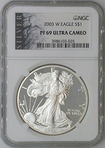 2003 W American Eagle $1 PF69 NGC PF