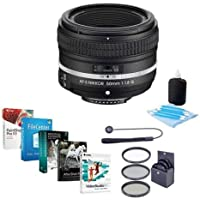 Nikon AF-S NIKKOR 50mm f/1.8G Special Edition Lens - Bundle with 58mm Filter Kit & Pro Software