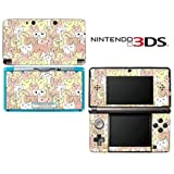 Kitty Cat Pattern Decorative Video Game Decal Cover Skin Protector for Nintendo 3Ds (not 3DS XL)
