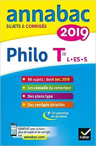 Philosophie Tle séries L, ES, S : Sujets et corrigés: 9782401045446: Amazon.com: Books