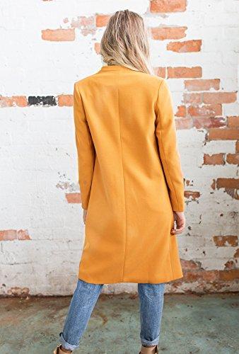 Abrigo naranja para Leezeshaw mujer Abrigo naranja Leezeshaw para mujer wH8YXqA8O
