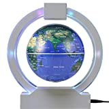 YANGHX Magnetic Levitation Floating Colorful Globe Map Stars LED Night Lights Suspending In The Air ( 6 inch )