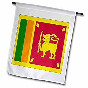 3dRose fl_31582_1 Sri Lanka Flag Garden Flag, 12 by 18-Inch