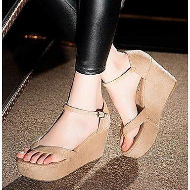 SHOES-XJIH&Uomini sandali suole di luce PU esterna di estate a monte le scarpe tacco basso marrone scuro blu scuro nero sotto 1a,marrone scuro,US8 / EU40 / UK7 / CN41