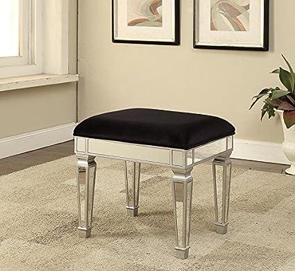 Efecto Espejo Muebles Mock Croc - Taburete tapizado asiento de ...