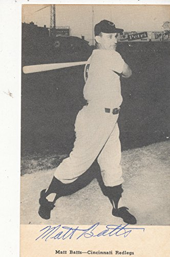 1956 Cincinnati Reds Matt Batts signed post card d2013