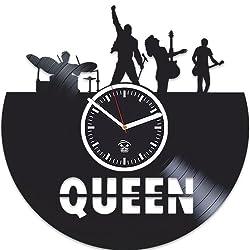Kovides Queen Vinyl Record Wall Clock, for Musicians, Party Decor, Home Art, Vinyl Art, Freddie Mercury Vinyl Record