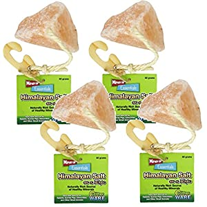 (4 Pack) Ware Manufacturing Himalayan Salt on a Rope Small Pet Chew Treats 110