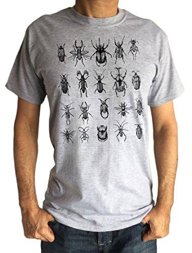 Over Grigio Insetti shirt Creepy Crawlers Stampa fly Ts950 I Tutti Uomo Irony Bugs T 68qaOXX