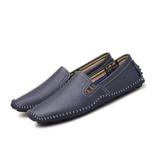 LANSHAY Originales Zapatos Mocasines for Hombres C Cuero Genuino ...