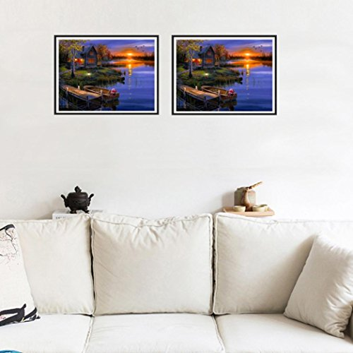 callm 5D Diamond Painting, Clearance DIY Cross Stitch Kit Diamond Embroidery Painting Drill Arts Craft Supply for Home Wall Decor (Landscapes)