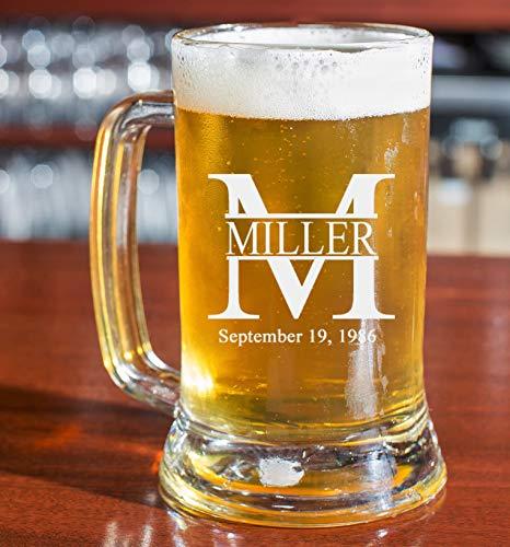 PersonalizedBeer Glass Mug - Custom Beer Mug 16oz | Miller Design