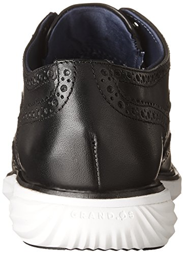 ... Cole Haan Kvinners Grandevolution Shortiwing Oxford Flat Sort Skinn ...