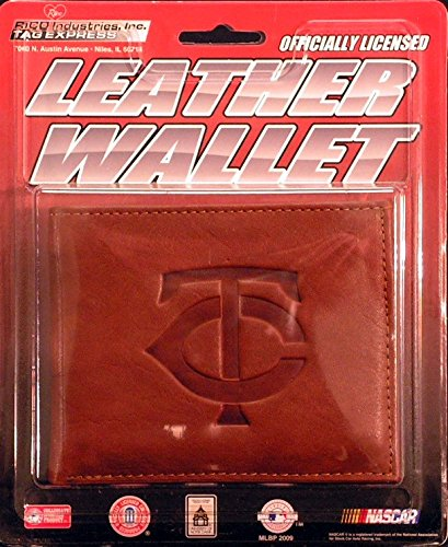Minnesota Twins Embossed Leather Bifold Wallet (Manmade Interior)