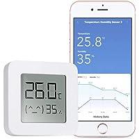 WARMTUYO Digital Termómetro Higrómetro Interior, Bluetooth Termómetro Higrómetro Monitor, Medidor Temperatura Humedad…