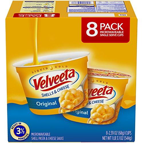 Velveeta Original Shells & Cheese Microwaveable Cups (2.39oz Cups, Pack of 8) (Best Frozen Cheese Ravioli)