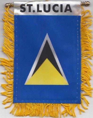St Lucia Car Flag Hanging Window (Devon Hanging)