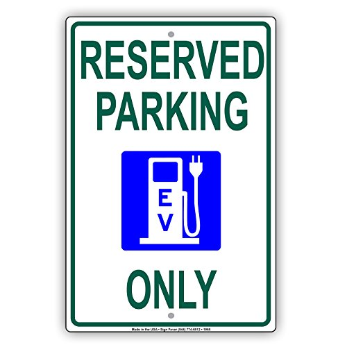 Reserved Parking EV Electrical Vehicle Only Charging Station Aluminum Metal 8