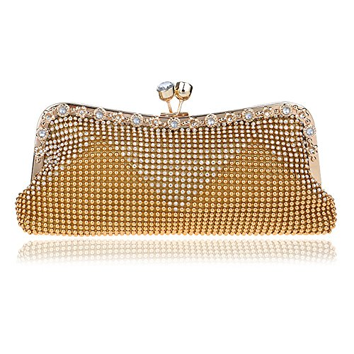 Diamants Sacs De Sacs Day Main Bag Femmes Perlés Messenger Shouler Clutch gold Petite TuTu Soirée Cristal Chaîne Doux Mariage À WaXpqcgWw
