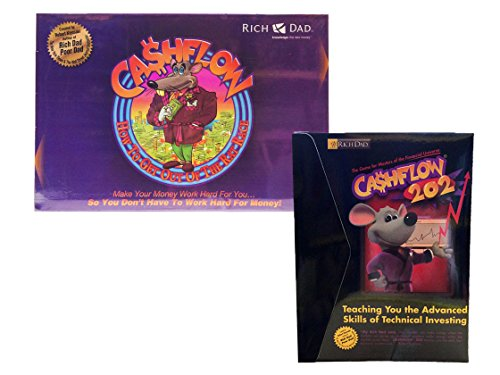 Rich Dad Cashflow 101 and 202 Board Game Bundle