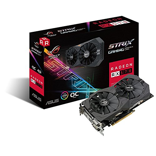 ASUS Radeon RX Vega 64 8GB Overclocked 2048-Bit HBM2 PCI Express 3.0 HDCP Ready Video Card RX 570 ROG-STRIX-RX570-O4G-GAMING