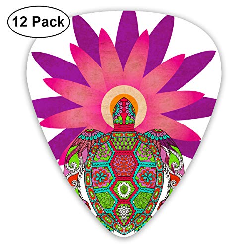 - JsMuryobao Guitar Picks Custom Cool Unique Design for Electric Acoustic Bass Ukulele Vintage Turtle Sunflower Peacock Tail