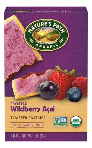 Nature's Path Organic Frosted Toaster Pastries Wildberry -- 6 Bars - 2 pc