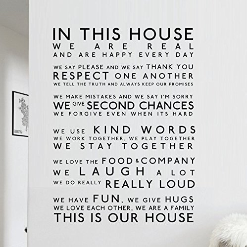 In This House We Do   Wall Sticker   In This House Wall Decal    Inspirational Part 67