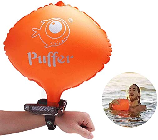 Swimming, Sailing Lifesaving Bracelet Anti-Drowning Life Buoy Wristband Floating Emergency Rescue Wrist Band Inflatable Self-Rescue Balloon Water Sports Aid with Compass for Surfing