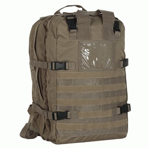 Voodoo Tactical Deluxe Professional Special Ops Field Medical Pack – Coyote Brown / Tan 15-8174, Outdoor Stuffs
