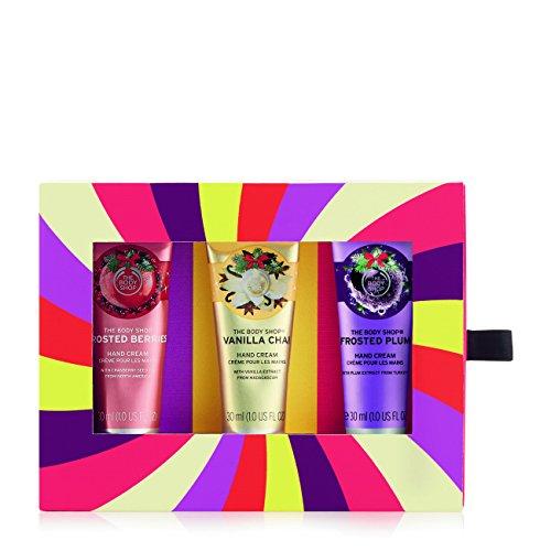 The Body Shop Limited Edition Seasonal Hand Creams Trio Gift Set, 3pc Set of Assorted Hand Creams