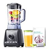 eufy MiracleBlend D1, Perfect for Smoothies, 1200W, High-Speed Blending, Professional Grade, Automatic Cleaning Mode, 50 oz, Black+Grey, Includes Recipe Book and BPA-Free Vacuum Cup (50 Oz)