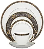 Lenox Unisex Vintage Jewel 5 Piece Boxed Set White Dinnerware For Sale