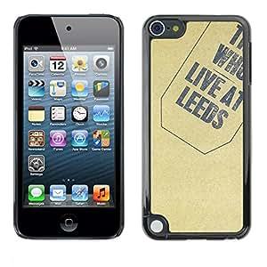 PC/Aluminum Funda Carcasa protectora para Apple iPod Touch 5 Texture Who / JUSTGO PHONE PROTECTOR