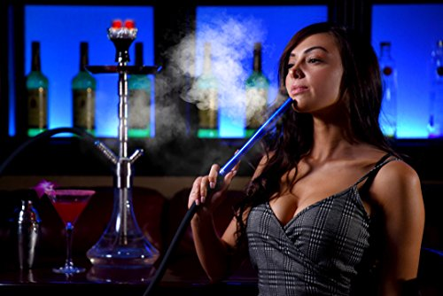 LUX Silicone Hookah Hose - Large, Premium, Rich Color, Silicone Hookah Shisha Hose, Easy Clean Technology, Medical-Grade Aluminum Handle, and Premium Soft Silicone Hose (by Hookah Hot Spots)