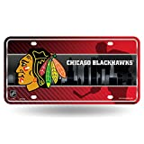 Chicago Blackhawks NCD Metal Aluminum Novelty License Plate Tag NHL Hockey