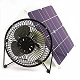 solar fan 10w 6 inch Fan Powered Ventilation Caravan Camping Home Office Outdoor Traveling Fishing