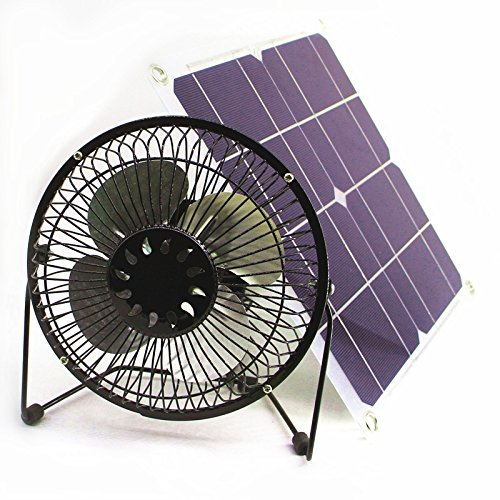 solar fan 10w 6 inch Fan Powered Ventilation Caravan Camping Home Office Outdoor Traveling Fishing by Solar Fan