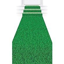 """Beistle 53430 Grass Runner, 24"""" x 10', Green"""