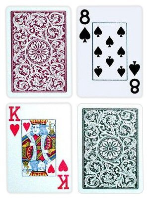 Copag Green (Copag 1546 Green/Burgundy Poker Size Jumbo Index 100% Plastic Cards with Protective Plastic Case)