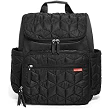 Skip Hop Forma Travel Carry All Diaper Backpack with Insulated Bag, One Size, Black