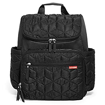 0657b88d9fdbfe Amazon.com : Skip Hop Forma Travel Carry All Diaper Backpack with Insulated  Bag, One Size, Black : Baby