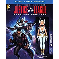 Justice League Gods and Monsters Deluxe Edition with Figurine on Blu-ray (2015)