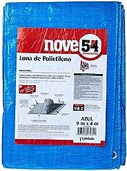 Lona De Polietileno Azul 9 M X 4 M Nove54 Nove 54