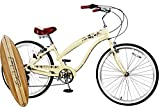 Anti-Rust & Light Weight Aluminum Alloy Frame, Fito Modena II Alloy 7-speed for women 26