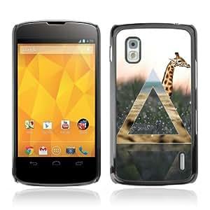 YOYOSHOP [Giraffe Geometry] LG Google Nexus 4 Case