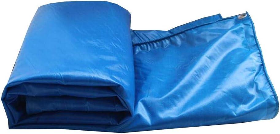 DALL 防水シート屋外防水550 G/M 2厚さ0.45 Mm PVC防水シート防水性耐寒性複数サイズ (Color : 青, Size : 5×5m) 青 5×5m